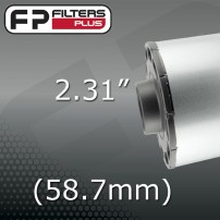 "2.31"" - (58.7mm) OUTLET"