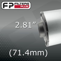 "2.81"" - (71.4MM) OUTLET"