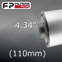 "4.34"" - (110mm) OUTLET"