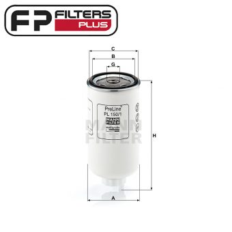 Mann Preline Fuel Filter Perth fits Direction Plus Fuel Separator Kits Melbourne Sydney