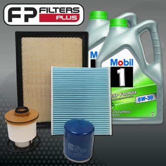 WK57CABM Wesfil Service kit with 10L of Mobil 1 ESP Full Synthetic Engine Oil