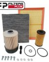 WK71CAB Wesfil Filter kit fits Nissan Navara NP300 Oil Fuel Air Cabin Filters Perth Melbourne Sydney Australia