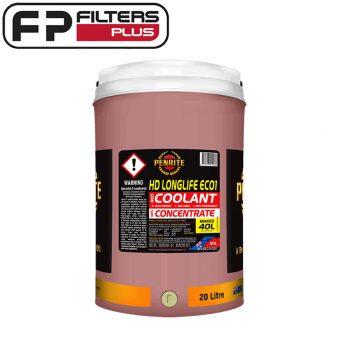 Penrite Heavy Duty Longlife ECO1 Coolant Concentrate 20 Litres AFABEC01020 Perth Melbourne Sydney Australia