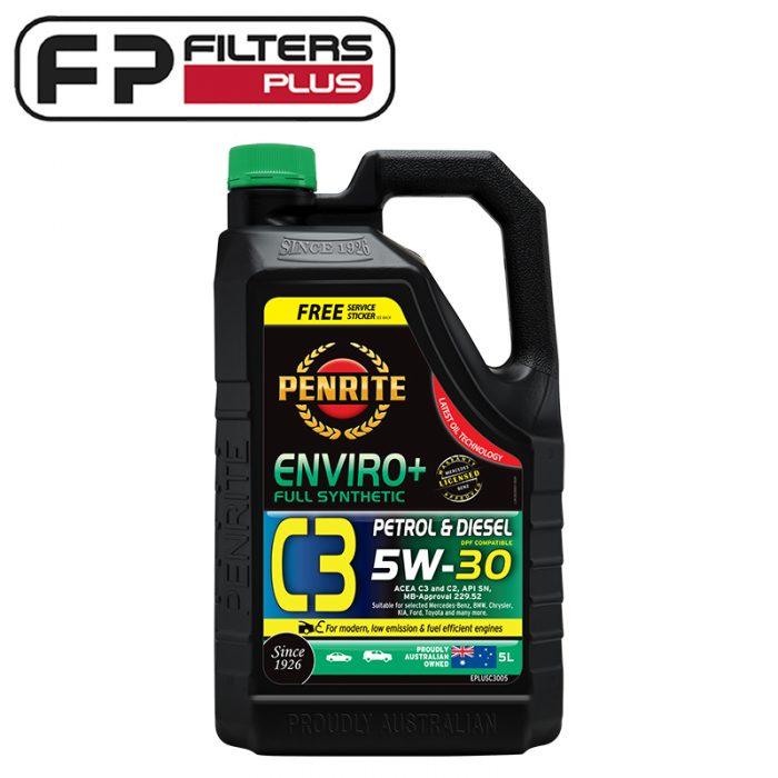 5 Litres Penrite Envrio+ C3 5W30 Full Synthetic Engine Oil Perth EPLUSC3005 Melbourne Sydney