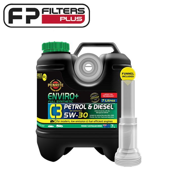 Penrite 7 Litres of Enviro+ C3 5W30 Full Synth Engine Oil Perth EPLUSC3007 Melbourne Sydney