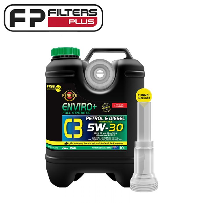 Penrite Enviro+ 10L C3 5W30 Full Synthetic Engine Oil Perth EPLUSC3010 Melbourne sydney