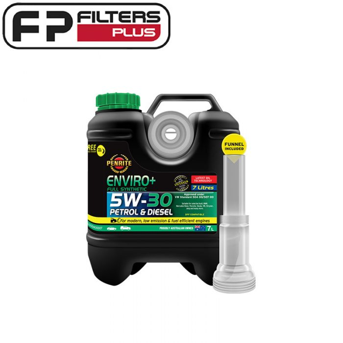 Penrite Enviro+ 5W30 Engine Oil Perth Full Synthetic EPLUS5W30007 Melbourne 5W-30 Sydney