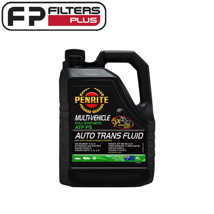Penrite Fully Synthetic Automatic transmission Fluid Perth FS Melbourne ATF Sydney 4 Litres