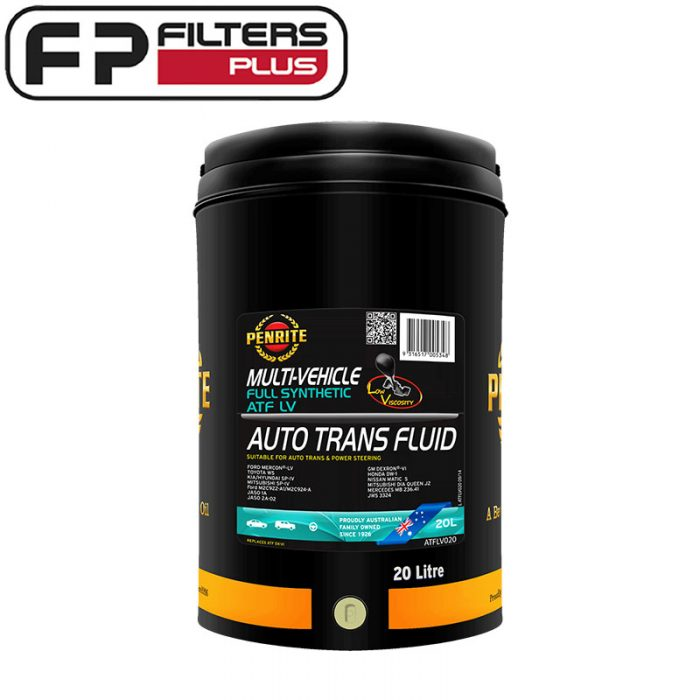 Penrite Full Synthetic ATF Perth 20 Litres LV Automatic Transmission Fluid Melbourne Sydney