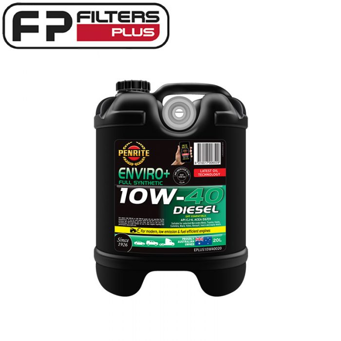 Penrite 10W40 enviro+ 20 Litres Perth Full Synthetic Oil Melbourne 10W-40 Sydney